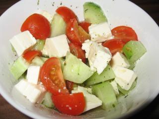gurke tomate salat mit feta
