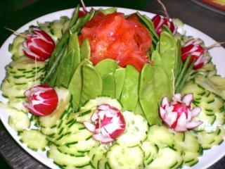 gurken tomaten zuckerschoten salat