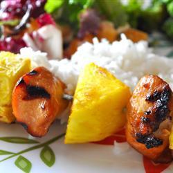 hähnchen ananas grillspieße