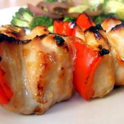 hähnchen kebabs in honig soja marinade