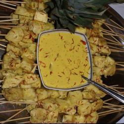 hähnchen mit erdnussbutter auf thailändische art hähnchen satay