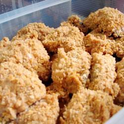hähnchen mit panade aus cornflakes