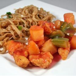 hähnchen süß sauer auf chinesische art