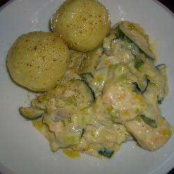 hähnchen zucchini champignon pfanne