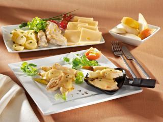 hähnchenbrust raclette mit birne und höhlenkäse