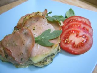 hähnchenbrustfilet mit rucolapesto gorgonzola und gekochtem schinken