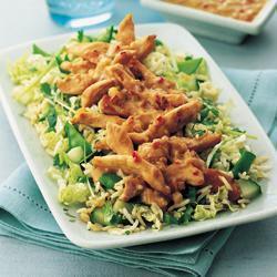 hähnchensalat satay