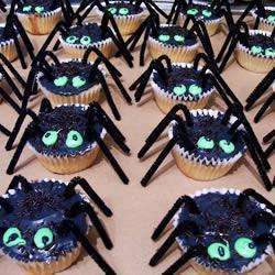 halloween spinnentörtchen
