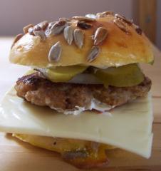 hamburger bagel