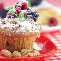 haselnuss himbeer muffins