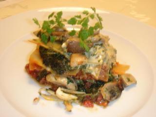 herbst lasagne mit wildschwein hack und kräuterseitlingen