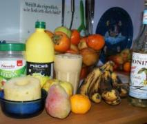 herbst smoothie oder auch fruchtmuspüreegetränk