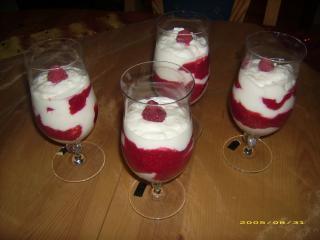himbeer joghurt creme