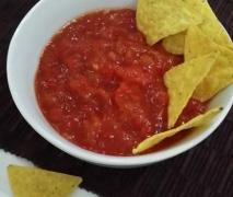 hot salsa tortilla dip