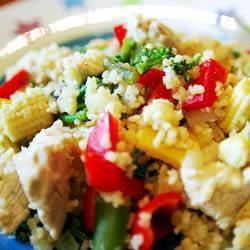 huhn couscous salat