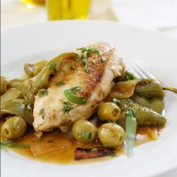 hühnerbrust mit oliven