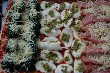 italienische flaggen pizza