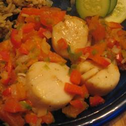 jakobsmuscheln mit papaya salsa