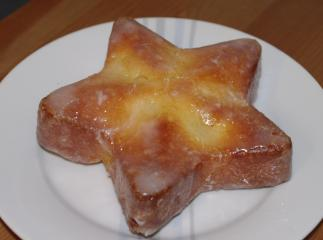 joghurtstern mit apfel mini kuchen
