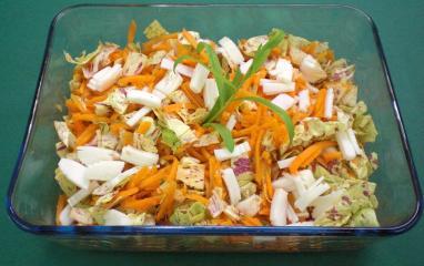 karotten trevisio salat mit ziegenkäse