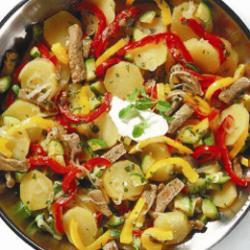 kartoffel fleisch pfanne