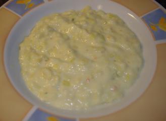 kartoffelcremesuppe mit lauch