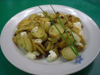 kartoffelpfanne mit scamorza