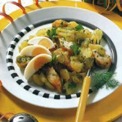 kartoffelsalat mit schillerlocken