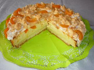 käse pfirsichkuchen mit baiserhaube im flavorwave oven gebacken