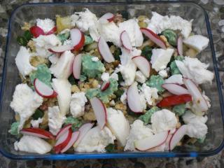 käse radieschen salat