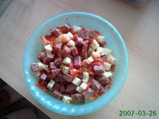 käse salami salat