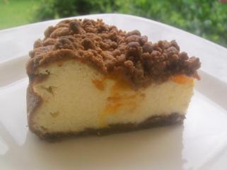 käse schoko krümel kuchen mit mandarinen