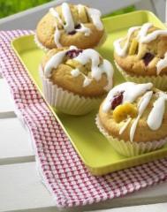 kirsche banane muffins mit buttermilch