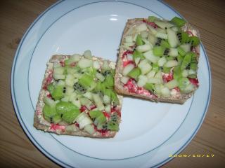 kiwi apfel brötchen
