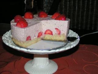 kleine erdbeer mascarpone torte