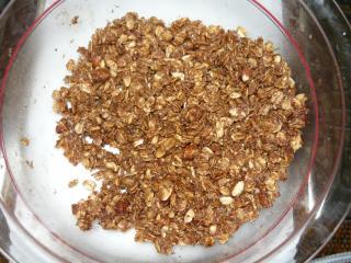 knuspermüsli gebacken