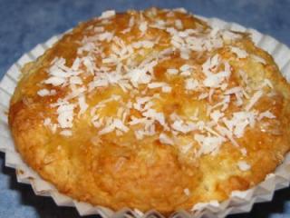 kokos buttermilch apfel honigmuffins