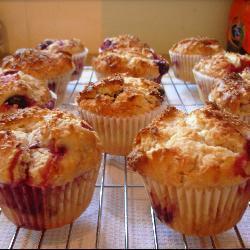 kokos himbeer muffins
