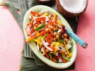 kokos kichererbsen salat