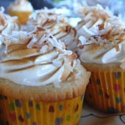 kokos zitronen cupcakes mit baiserhaube