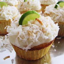 kokosnuss limetten cupcakes