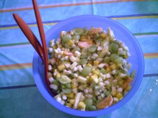 kreativer obst salat