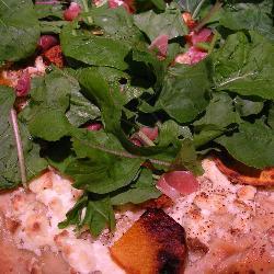 kürbis rucola pizza