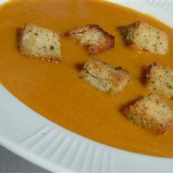 kürbissuppe mit butternut kürbis und orange