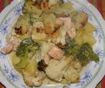 lachs blumenkohl broccoli auflauf mal ohne käse