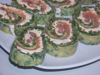 lachs spinat roulade