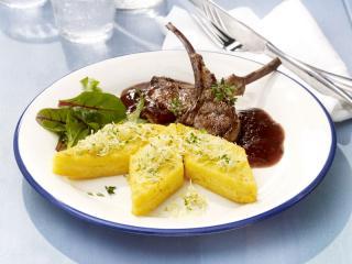 lammkoteletts mit noord hollander polenta rauten