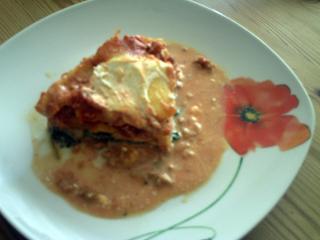 lasagne mit giersch