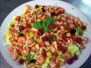 louisiana flußkrebs salat