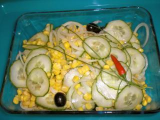 mais gurken salat